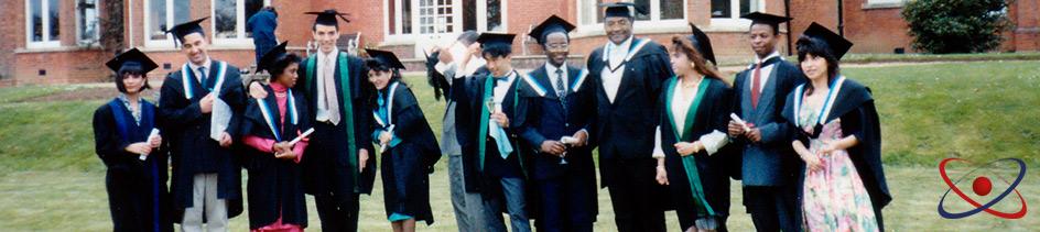 Warnborough graduation in Boars Hill, Oxford (1995)