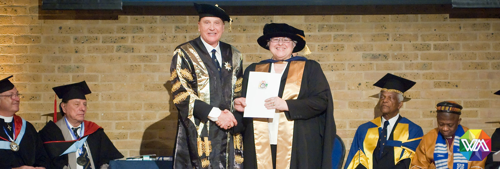 Dr Ruth Todd receiving her PhD in the History of Ideas in 2010 from Dr Brenden Tempest-Mogg